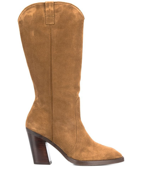 Stuart Weitzman Cheska calf boots in brown