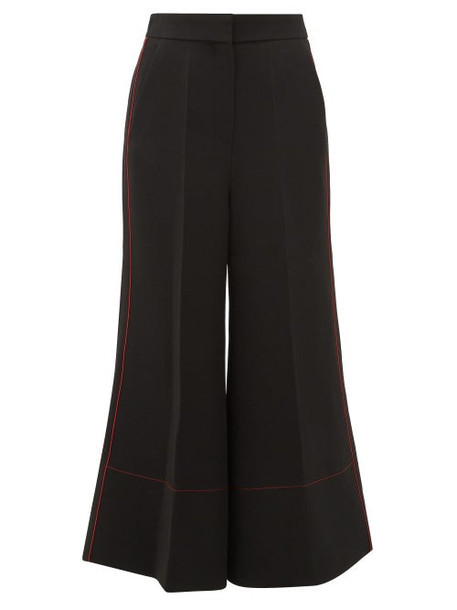 Roksanda - Hasani Cady Wide Leg Trousers - Womens - Black