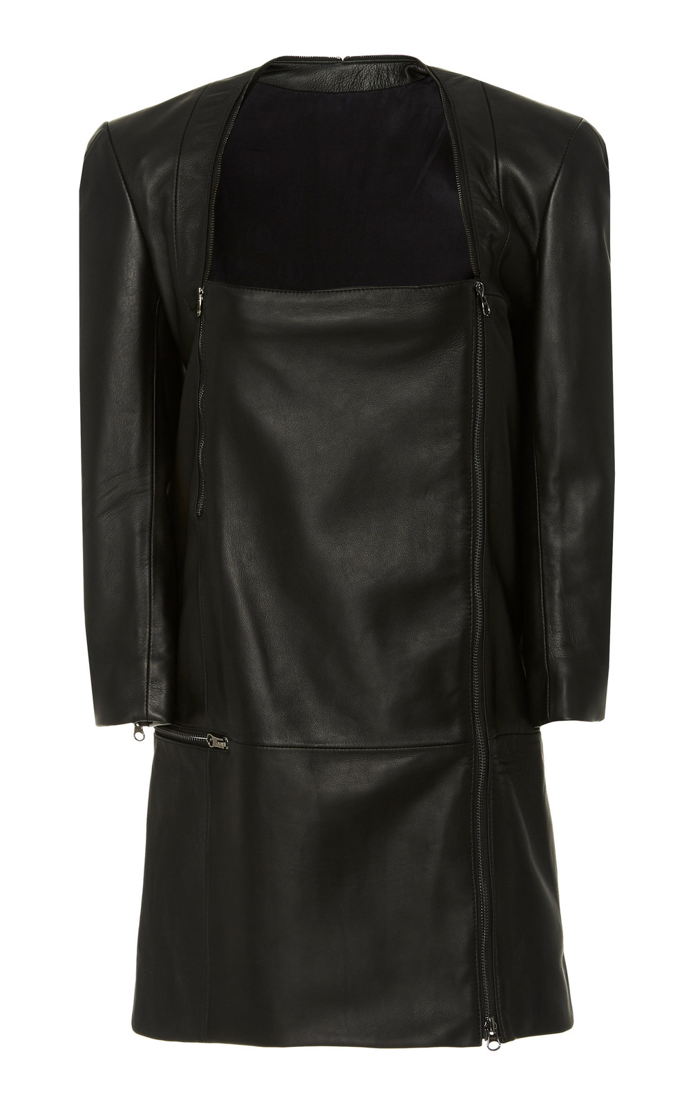Tre by Natalie Ratabesi Leather Dress in black