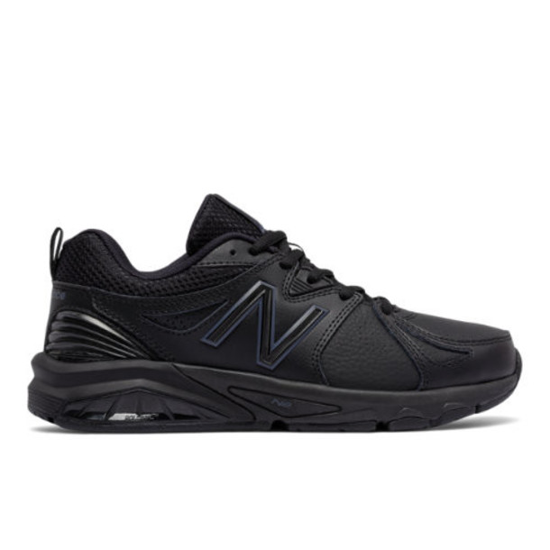 New Balance 857v2 Women's Everyday Trainers Shoes - Black (WX857AB2)