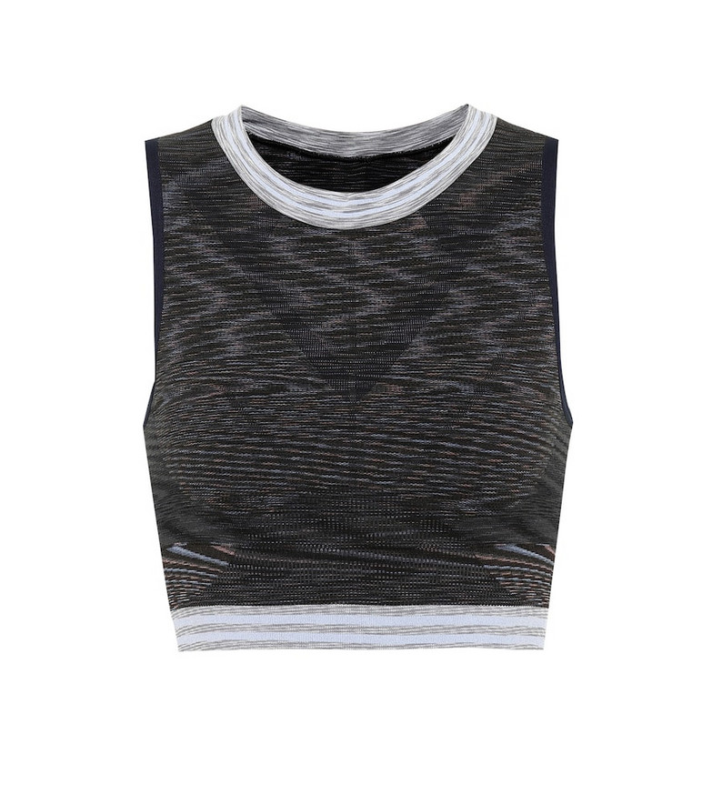 Lndr Space knitted crop top in grey