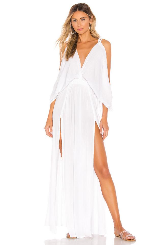 Tiare Hawaii Pez Cantina Dress in white