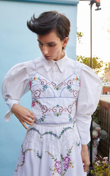 nevenka Armour Bralette in white