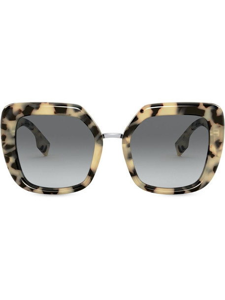 Burberry Eyewear tortoiseshell-effect oversized-frame sunglasses in brown