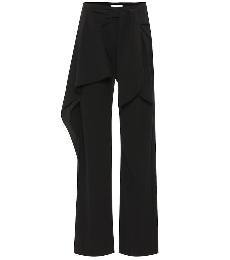 Chloé Relaxed crêpe pants in black
