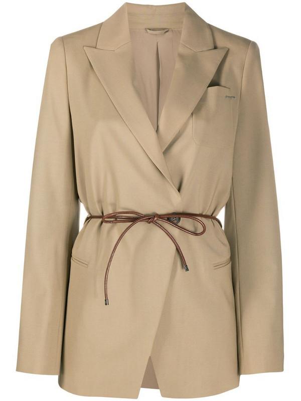 Brunello Cucinelli belted blazer in brown