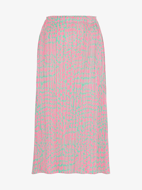 Pleats Please By Issey Miyake printed pleated midi skirt in pink