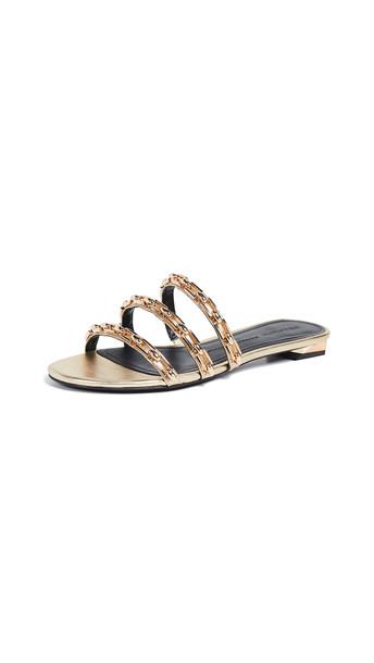 Stella Luna Three Chains F Sandals in gold