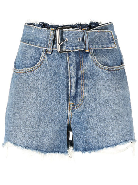 Alexander Wang high-waisted denim shorts in blue