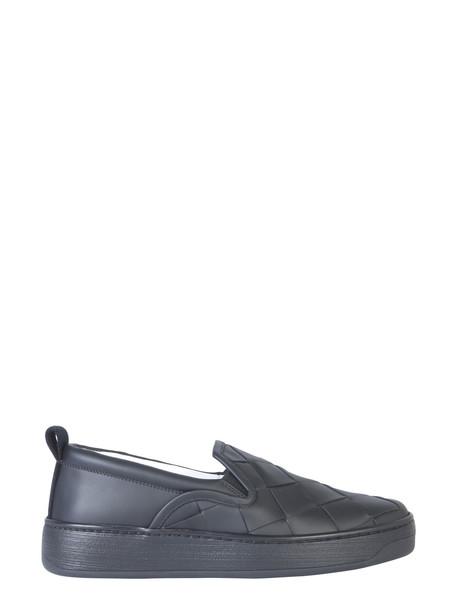 Bottega Veneta Maxi Woven Sneaker in nero
