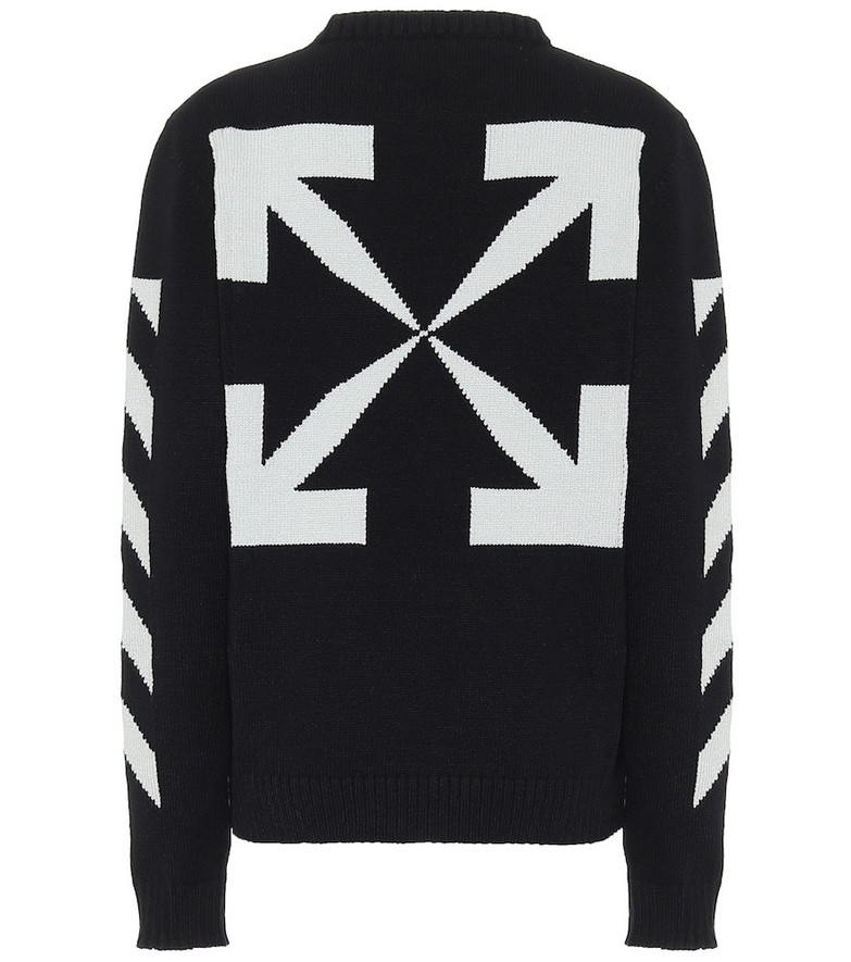Off-White Diag cotton-blend sweater in black