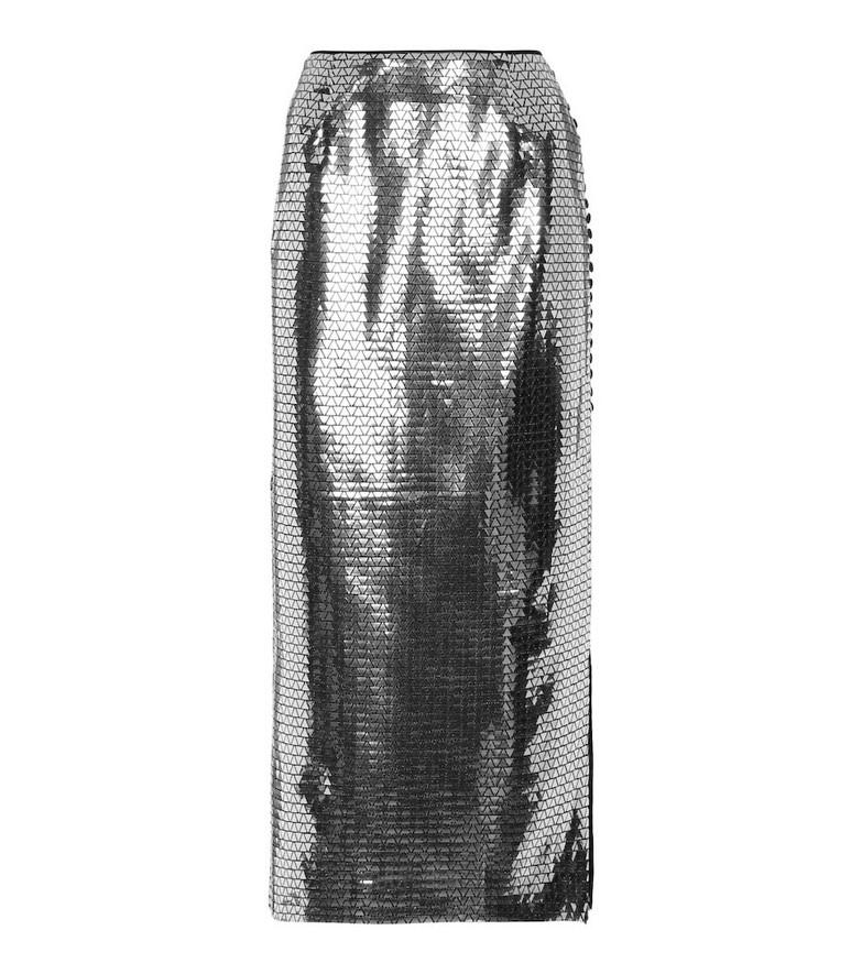 ROTATE BIRGER CHRISTENSEN Caitlin sequined midi skirt in black