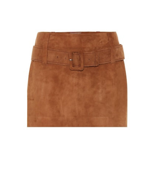 Prada Suede miniskirt in brown