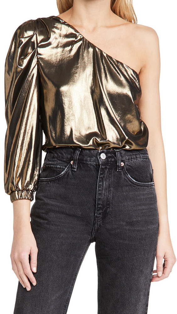 MISA Bianca Bodysuit in gold