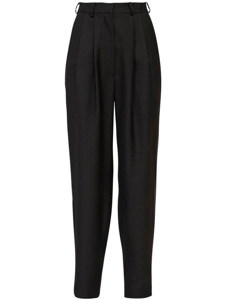 ANOUKI High Waist Wool Blend Pants in black