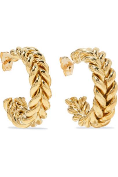 Laura Lombardi - Net Sustain Grana Gold-tone Hoop Earrings