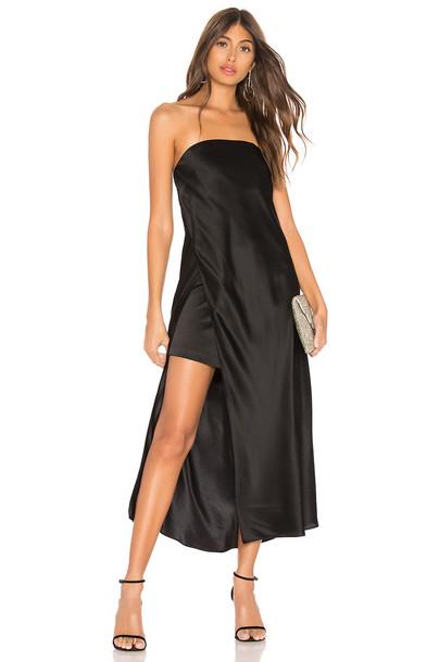 Michelle Mason Strapless Dress in black