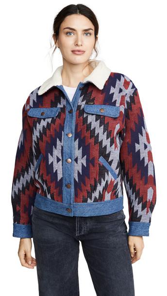 Wrangler Western Jacket in blue