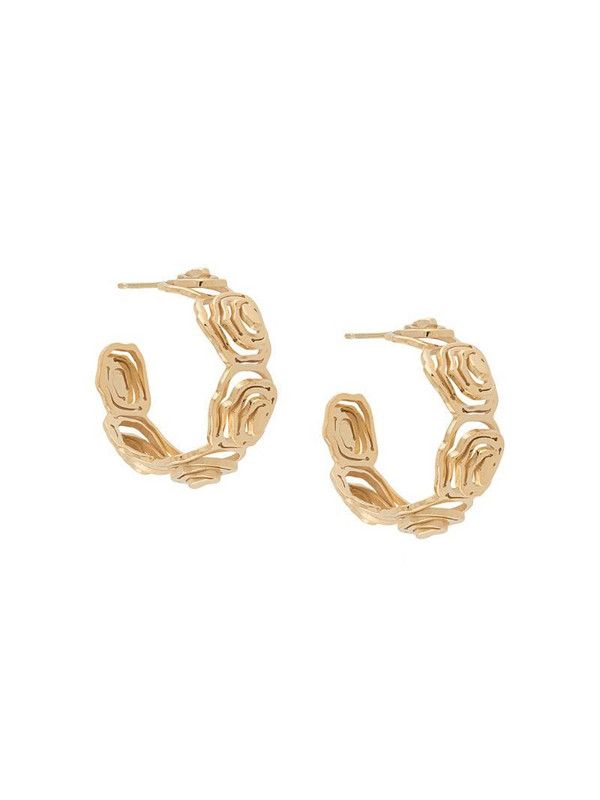 KAY KONECNA Elena hoop earrings in gold