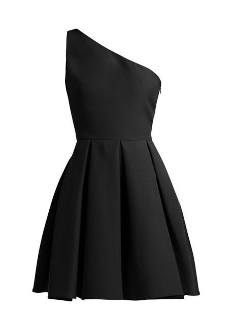 Valentino - One Shoulder Skater Dress - Womens - Black