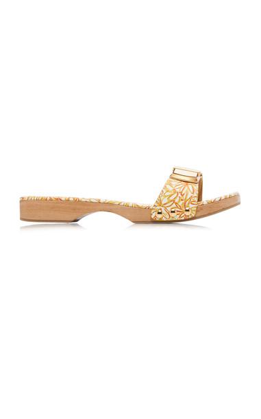 Jacquemus Les Tatanes Leather Slides Size: 38 in orange