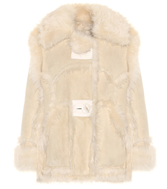 Acne Studios Oversized shearling jacket in neutrals