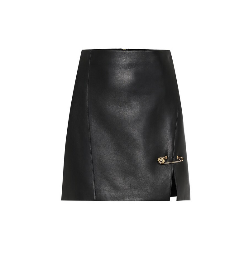 Versace Leather miniskirt in black