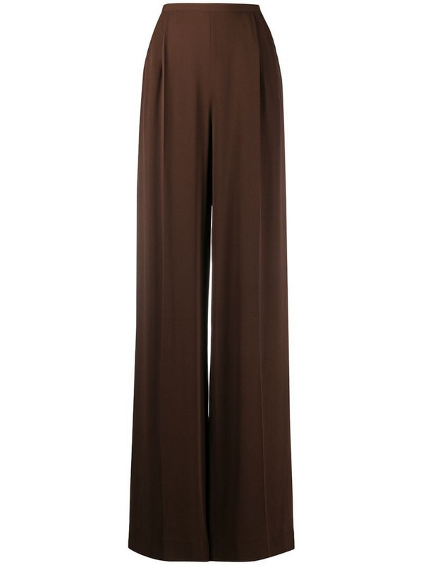 Gianfranco Ferré Pre-Owned 1990s wide-leg trousers in brown