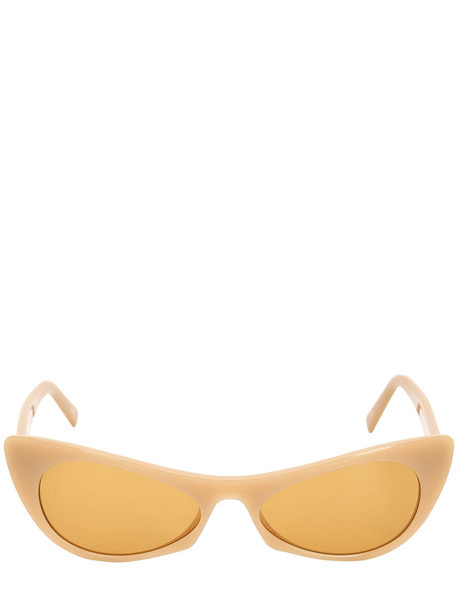 ANDY WOLF Ezra Cat-eye Acetate Sunglasses in brown / beige
