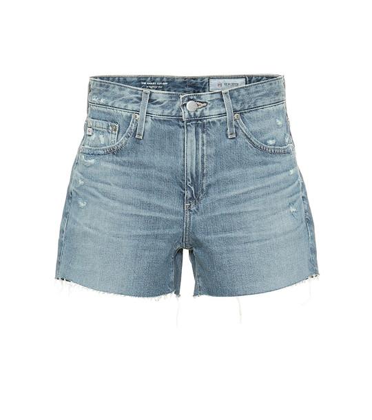 AG Jeans Hailey high-rise denim shorts in blue