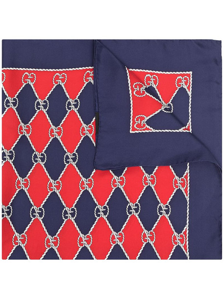 Gucci Pre-Owned GG diamond-pattern scarf in red