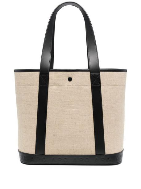 A.P.C. A.P.C. leather-strap tote bag - Black