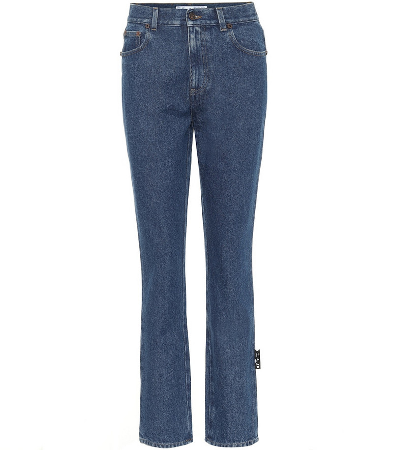 Off-White High-rise slim fit jeans in blue