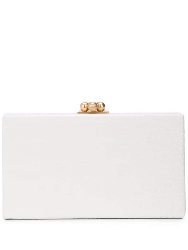 Edie Parker box clutch in white