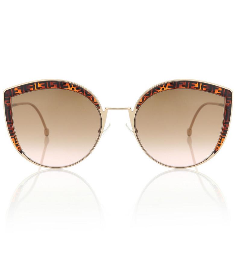Fendi Cat-eye sunglasses in brown