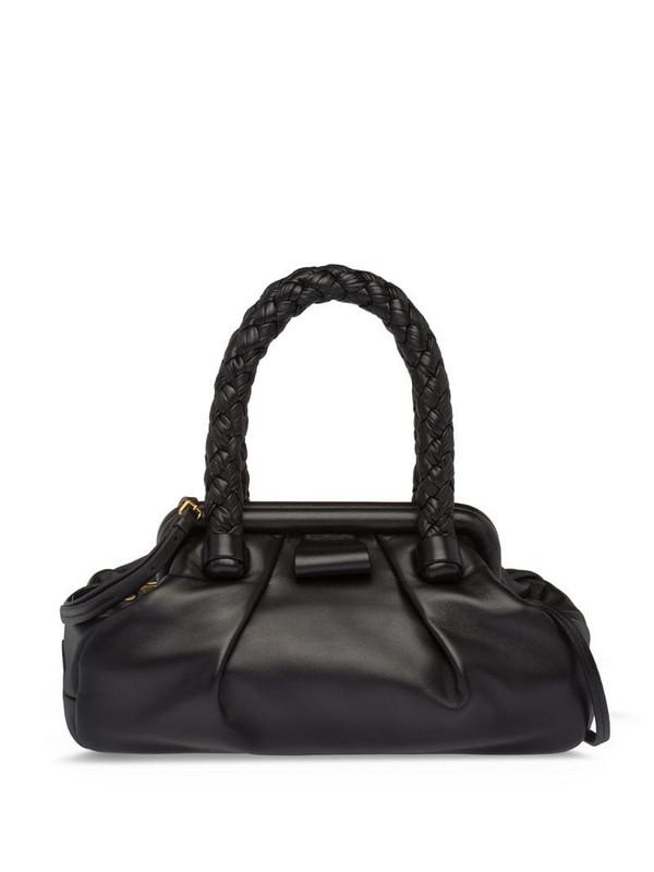 Miu Miu nappa leather tote in black