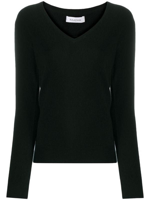 NAADAM V-neck cashmere jumper in black