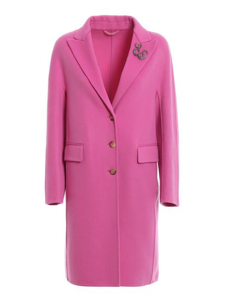 Ermanno Scervino Single Breast Coat in pink