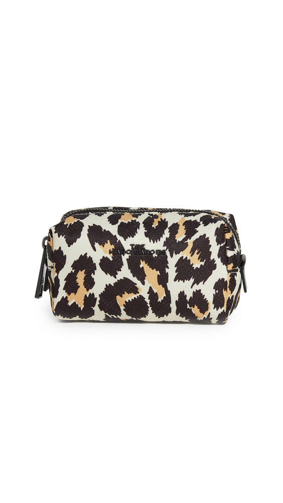 The Marc Jacobs Triangle Pouch Small Cosmetic Case in natural / multi
