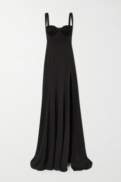 Mugler - Satin Maxi Dress - Black