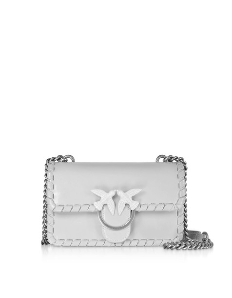 Pinko Small Love Twist Shoulder Bag in silver
