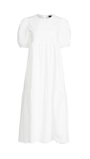 En Saison Poplin Midi Dress in white