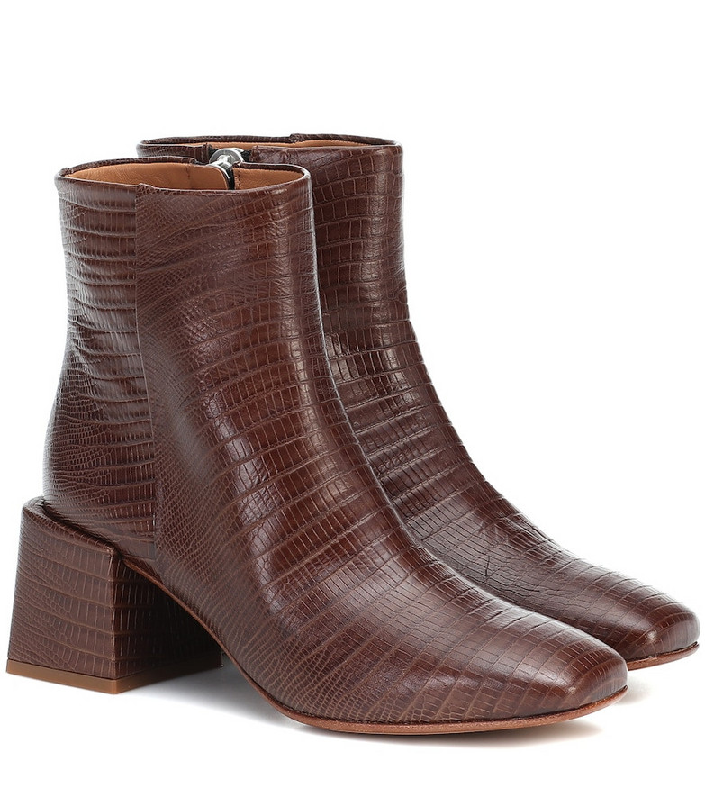 LOQ Lazaro leather ankle boots in brown