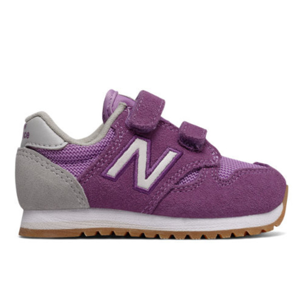 New Balance 520 Hook and Loop Kids' Infant and Toddler Lifestyle Shoes - Purple/White (KA520PWI)