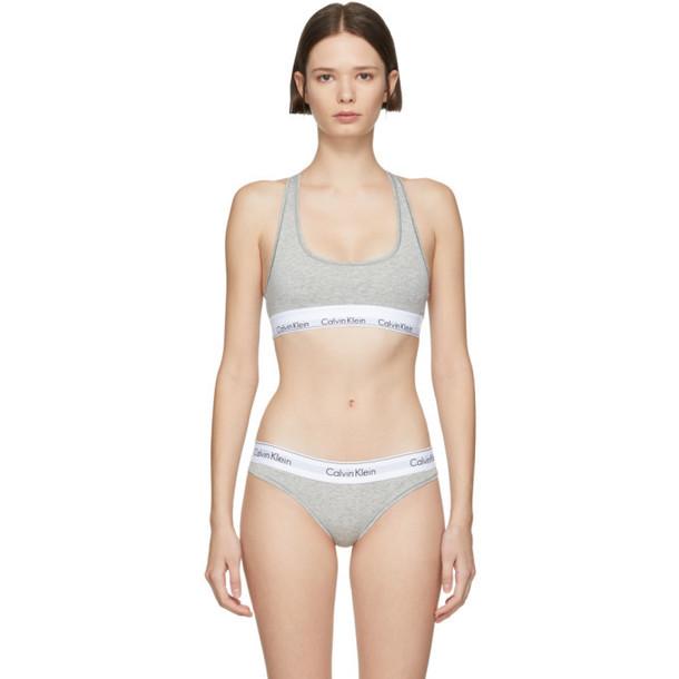 Calvin Klein Underwear Grey Modern Bralette