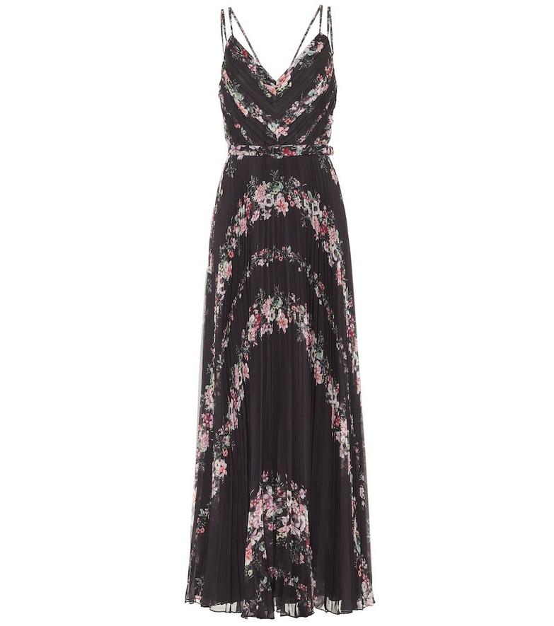 Marchesa Notte Floral maxi dress in black