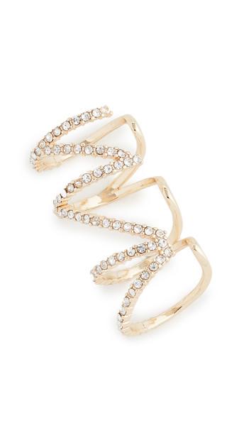 BaubleBar Centi Ear Cuff in gold / clear