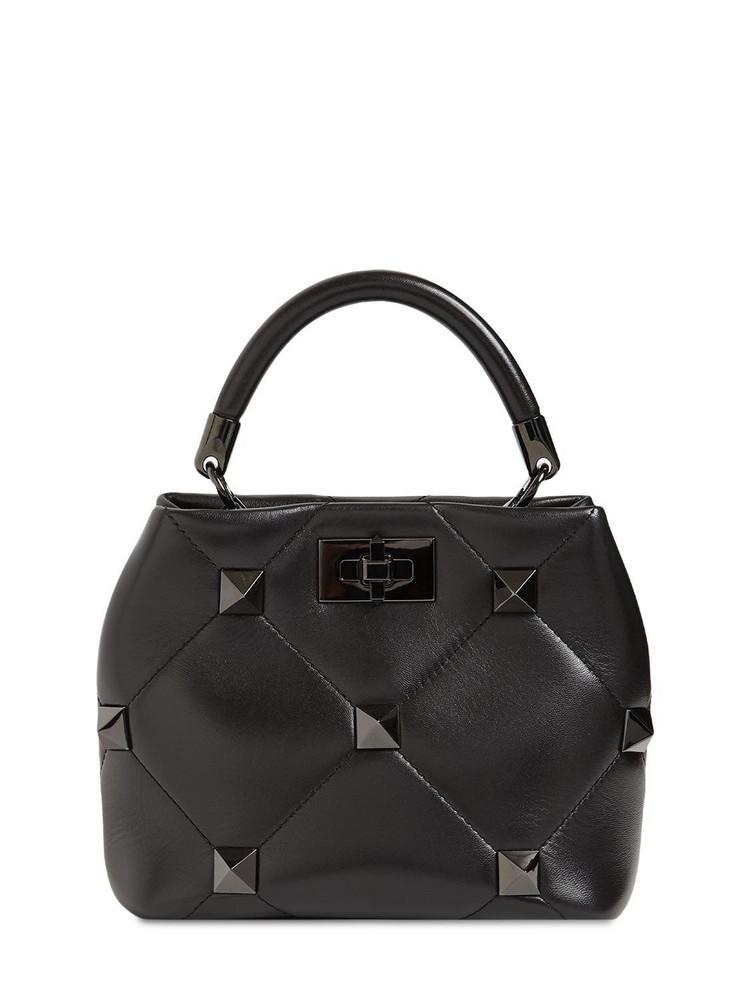 VALENTINO GARAVANI Sm Roman Stud Leather Bucket Bag in black