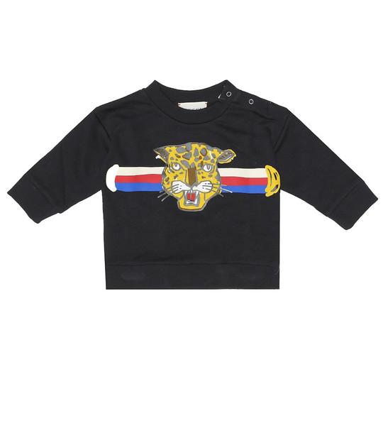 Gucci Kids Baby printed cotton sweatshirt in blue