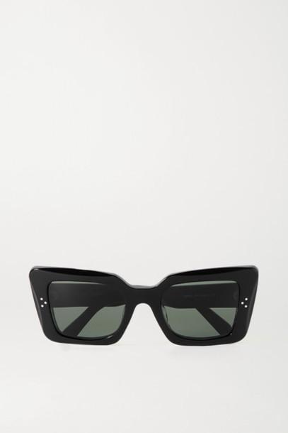 Celine - Oversized Cat-eye Acetate Sunglasses - Black